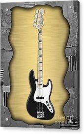 Fender Bass Guitar Collection Acrylic Print