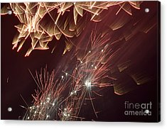 Fireworks On Bastille Day Acrylic Print by Sami Sarkis