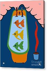 3 Fish In A Tub Acrylic Print by Patrick J Murphy