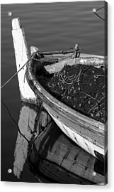 Fishing Boat In Lesvos Island Acrylic Print by George Atsametakis