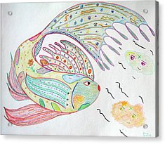 Fishstiqueart 2009 Acrylic Print by Elmer Baez