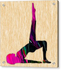 Fitness Yoga Acrylic Print by Marvin Blaine