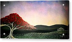 Flamboyan Acrylic Print by Edwin Alverio