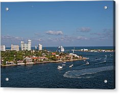 Fort Lauderdale, Port Everglades Acrylic Print by Jim Engelbrecht