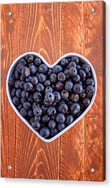 Fresh Picked Organic Blueberries Acrylic Print