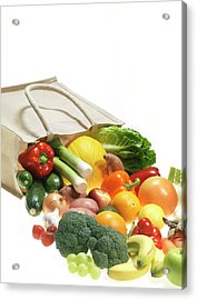 Fruit And Vegetables Acrylic Print by Tek Image/science Photo Library