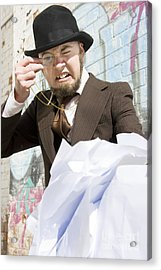 Frustrated Businessman Acrylic Print by Jorgo Photography - Wall Art Gallery