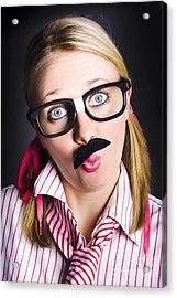 Funny Business Nerd With Innovative Breakthrough Acrylic Print