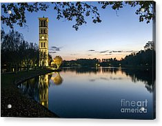 Furman University Bell Tower At Sunset  Greenville Sc Acrylic Print