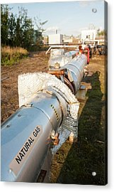 Gas Pipeline In Alberta Acrylic Print by Ashley Cooper