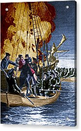 Gaspee Affair, 1772 Acrylic Print by Science Source
