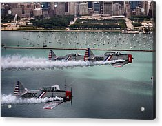 Acrylic Print featuring the photograph Geico Skytypers by Jerome Lynch