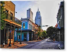 3 Georges Acrylic Print by Michael Thomas