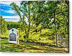 Gettysburg Battleground Acrylic Print by Bob and Nadine Johnston