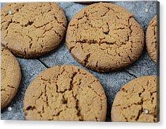 Gingersnap Cookies For Christmas Acrylic Print