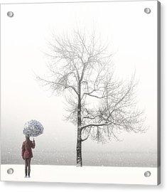 Girl With Umbrella Acrylic Print by Joana Kruse