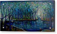 Glistening Forest Lake Acrylic Print