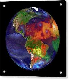Global Fires Acrylic Print by William Putman/nasa Goddard Space Flight Center