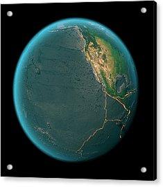 Global Tectonics Acrylic Print