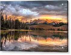 Golden Sunrise Acrylic Print by Robert Bales