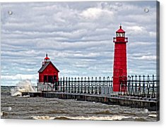Grand Haven Lighthouse Acrylic Print by Cheryl Cencich
