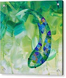 Green Koi Acrylic Print