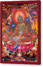 Green Tara 10 Acrylic Print by Lanjee Chee
