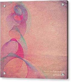 Grunge Retro Vintage Paper Texture Acrylic Print