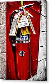 Grungy Fire Extinguisher Acrylic Print