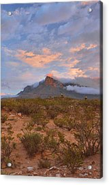 Guadalupe Mountains Sunrise Acrylic Print by Stephen  Vecchiotti
