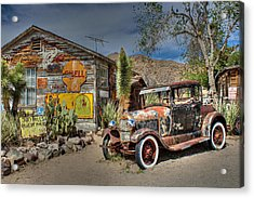 Hackberry General Store On Route 66 Acrylic Print by Lynn Jordan
