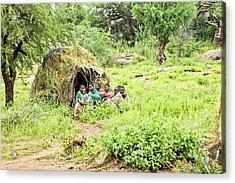 Hadzabe Tribe Acrylic Print by Photostock-israel