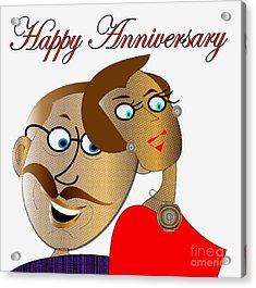 Happy Anniversary Acrylic Print by Iris Gelbart