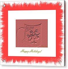 Happy Holidays Card Acrylic Print
