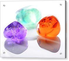 Healing Gemstones Acrylic Print