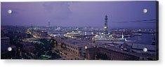 High Angle View Of A City, Barcelona Acrylic Print