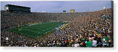 High Angle View Of A Football Stadium Acrylic Print