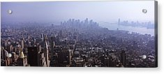 High Angle View Of Buildings In A City Acrylic Print by Panoramic Images