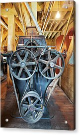 Historic Flour Mill Machinery Acrylic Print by Jim West