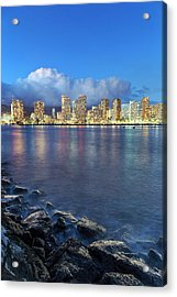 Honolulu Skyline Acrylic Print by Babak Tafreshi