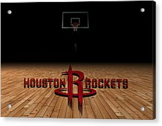 Houston Rockets Acrylic Print by Joe Hamilton