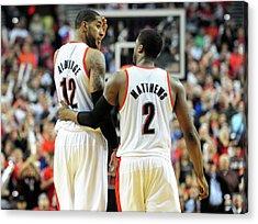 Houston Rockets V Portland Trailblazers Acrylic Print by Steve Dykes