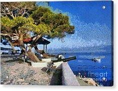 Hydra Island Acrylic Print