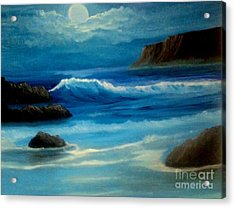 Acrylic Print featuring the painting Illuminated by Holly Martinson
