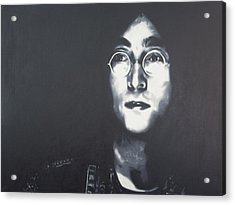 Imagine Acrylic Print by Luis Ludzska