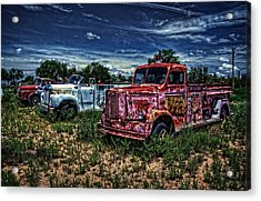 Acrylic Print featuring the photograph 3 In A Row by Ken Smith