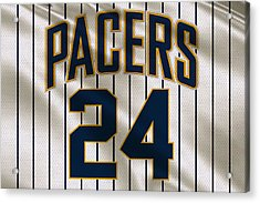 Indiana Pacers Uniform Acrylic Print by Joe Hamilton
