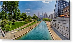 Indianapolis Skyline From The Canal Acrylic Print