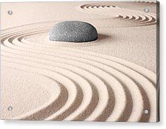 Japanese Zen Garden Acrylic Print by Dirk Ercken