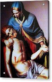 Jesus And Mary Acrylic Print by W  Scott Fenton